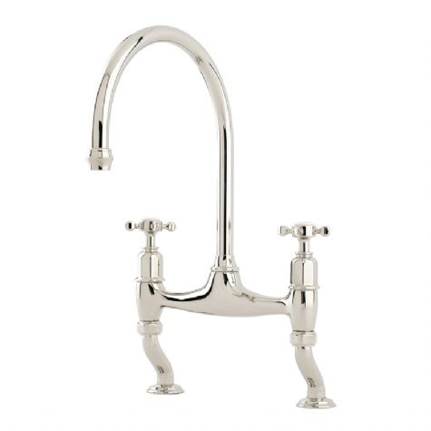 4192 Perrin & Rowe Ionian Two Hole Sink Mixer Tap with Crosshead Handles